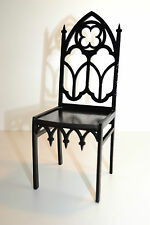 chair for Dolls 1:6 furniture Barbie FR wooden handwork Gothic style HIT NEW V2