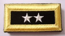 ARMY SHOULDER BOARDS MAJOR GENERAL TWO STAR - PAIR (2) FEMALE NEW IN PACK