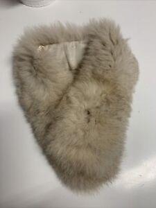 PURPLE SECRET Real Fur Stole Neck Warmer Scarf