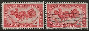 U.S. #1120 1958 4¢ Overland Mail Commemorative Stamp MINT plus bonus stamp!