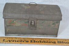 "box toleware tin document tole paint remnant 7 x 4""  original 19th c 1800"