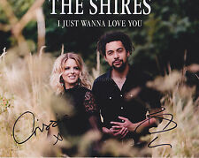 The Shires HAND SIGNED 8x10 Photo, Autograph, Brave, Nashville Grey Skies Same D