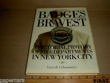 New York City NY Fire Dept Firefighting vtg old Badge Collecting History book