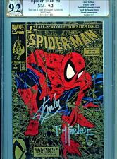 Spider-Man #1 GOLD Ed. 9.2 Dual Signed by STAN LEE & TODD MCFARLANE..PGX,Not CGC