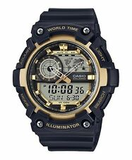 AEQ-200W-9A Black Gold Casio Men's Watches Standard 10-Year Battery AE-Q200W