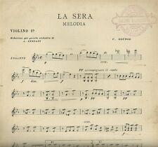 La Sera Melodia di Gounod per Piccola Orchestra Spartito Caffè Concerto 1910