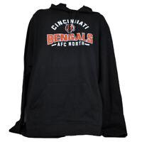 NFL Cincinnnati Bengals Black Fleece Hoodie Mens Adult Sweater Long Sleeve