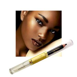 Posner PlexiShine 2 in 1 Lip Pencil & Luminizing Shine Lipgloss Duo WALNUT