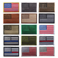 United States USA American Flag Sew-On Tactical Military Embroidered Patch Badge