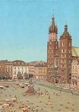 Poland Krakow Rynek Glowny kosciol Mariacki Statue Monument Market Place