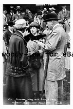 pt9215 - Doncaster Racecourse , Princess Mary , Lord & Lady Lonsdale  photograph