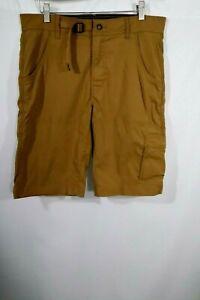 "Prana Men's Zion Stretch Hiking Shorts Size M Brown 12"" Inseam"
