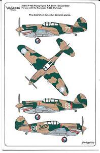 Warbird P-40C Volant Tigers, R.t. Smith, Chuck Older Décalques 1/32 010