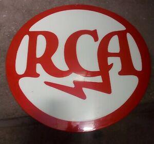 Vintage original Logo RCA metal enameled/Porcelain Sign Advertisement  rare!!!