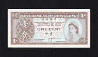 HONG  KONG ------ 1  CENT  1961 ------ UNC -----