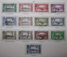 SIERRA LEONE KGVI 1938-44 PICTORIAL FULL SET TO £1 {16} SG 188-200 Fine Used