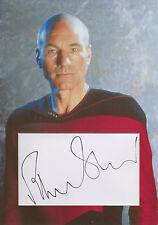 SIR PATRICK STEWART Signed 12x8 Photo Display JEAN-LUC PICARD STAR TREK COA