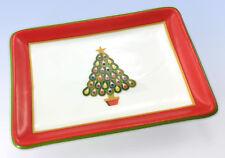 Charter Club Holiday Lane Small Ceramic CHRISTMAS TREE Jewelry Trinket TRAY