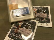 Vintage Berkley Fishing Tackle Tapered Nylon Line Leaders Collectable