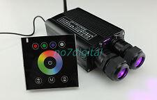 Touch pad fiber optic light engine led light source dual port 32w RGB light box