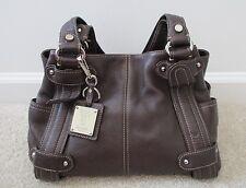 Tignanello Brown Pebble Leather Shopper Tote Shoulder HandbagMedium Purse
