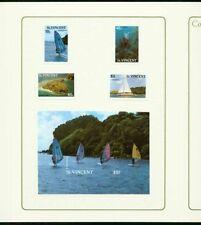 St. Vincent 1988 Tourism set & SS MASTER PROOFS/folders