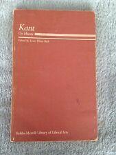 Kant on History / Immanuel Kant - 1983 - Softback Book