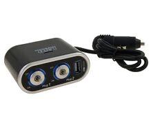 Cigarette Lighter Socket Splitter 12V 24V ON/OFF Dual USB Charger Power Adapter