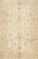 Floral Hand-knotted Peshawar Oriental Area Rug Traditional Wool Home Decor 6'x9'