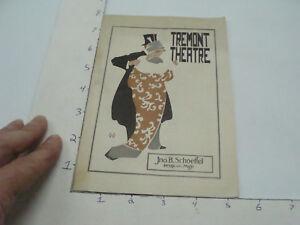 Vintage Original Program -- nov 10, 1913 THE AMAZONS w Miss BILLIE BURKE tremont