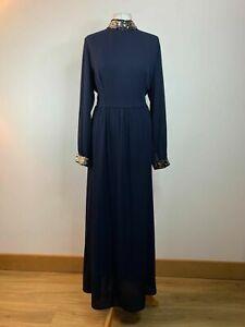 SHEIN Plus Mock Neck Contrast Sequin Trim Dress Dark Blue Size 1XL 18