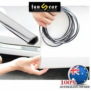 Silver Chrome Moulding U Trim Strip Car Auto Door Trunk Edge Guards Protector 6M