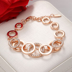 14K Gold filled MADE WITH SWAROVSKI CRYSTALS Tennis bracelet Birthday Valentines