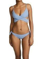 New STELLA MCCARTNEY Infinity Blue Wrap Bikini S $190 & $135
