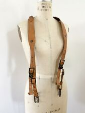Vintage Men's Genuine Handcrafted Leather Suspenders Adjustable