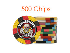 Custom Tri-Color Design Poker Chips w/Your Logo/Design in Full Color - 500 chips