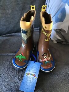 Kidorable pirates wellies boots children's size 8, BNWT