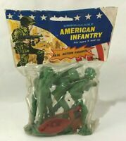 Soldatini AMERICAN INFANTRY IIWW small soldiers Vintage Hong Kong NEW 12 cm