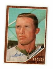 1962 Topps Marty Keough Auto Signed Card #258
