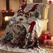 Christmas Tree Throw Soft Fleece Bed Sofa Blanket Throwover 130 X 170cm