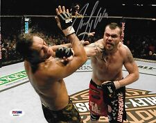 Tim Sylvia Signed UFC 81 8x10 Photo PSA/DNA Picture Fight of the Night Autograph