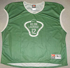 sz L New Nike Woodrow Wilson Lacrosse Team #12 Reversible Green Jersey Shirt