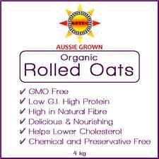 Oats Rolled Organic 4kg - Australian Grown