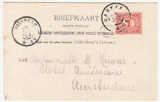 Netherlands: Postcard, Eiland Marken; Marken to Amsterdam, 25 July 1902