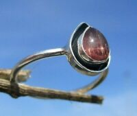 Rubelith ( rosa Turmalin ) - Ring Gr. 18,5 Silber 925