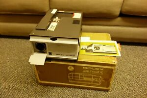 BOLEX MULTIMATIC SUPER 8 PROJECTOR Original Box! Intruction Manual NEW