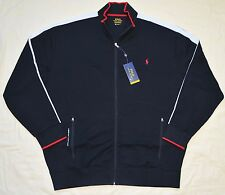 New 3XB 3XL BIG POLO RALPH LAUREN Men zip up track Jacket black 3X sports jumper