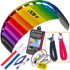 HQ Symphony Beach III 2.2 Kite Rainbow Foil Power + Plus Padded HD Wrist Straps