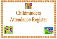 Childminder ATTENDANCE RECORD BOOK REGISTER readymade easy to use childminding