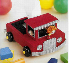 TRUCK - FOLK ART CHICKENS  + 4 MORE TISSUE TOPPERS PLASTIC CANVAS PATTERNS